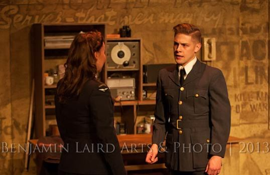 Justine Westeby and Eric Wigston in That Men May Fly, Photo Courtesy of Lunchbox Theatre